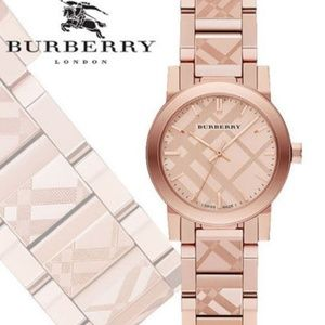 New Burberry Rose Gold-tone Ladies Bu9235 Watch